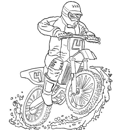 Free coloring and drawings Motocross color Coloring page