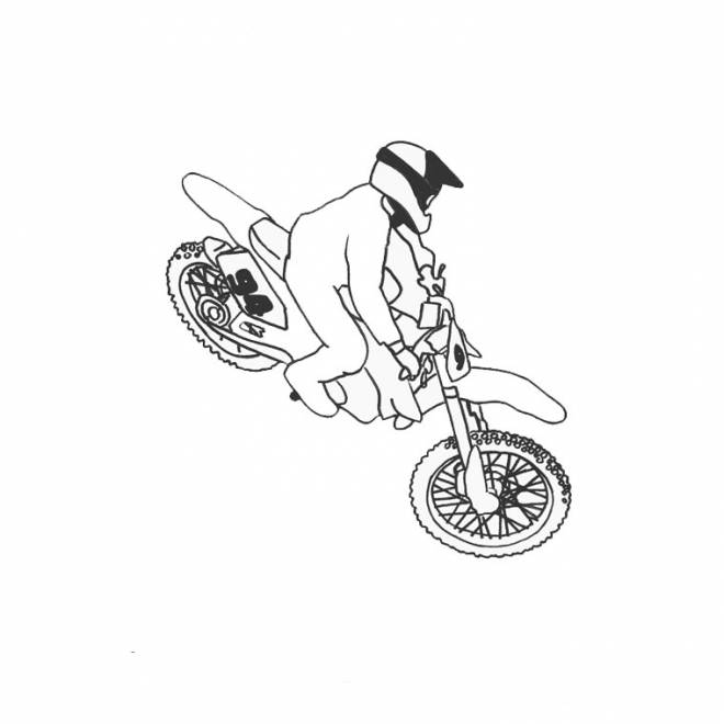 Free coloring and drawings Motocross Freestyle Coloring page