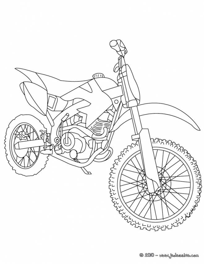 Free coloring and drawings Motocross racing Coloring page