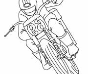Free coloring and drawings Motorcycle in race Coloring page