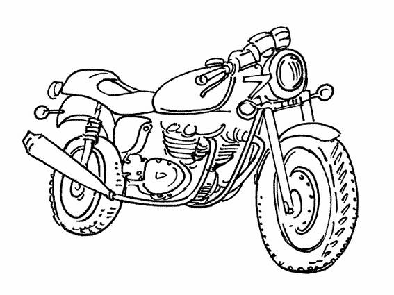 Free coloring and drawings Motorcycle online free Coloring page