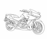 Free coloring and drawings Motorcycle online to print Coloring page