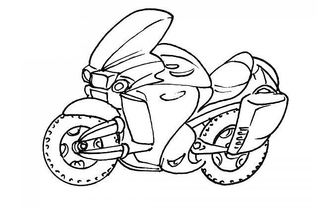 Free coloring and drawings Police motorcycle Coloring page