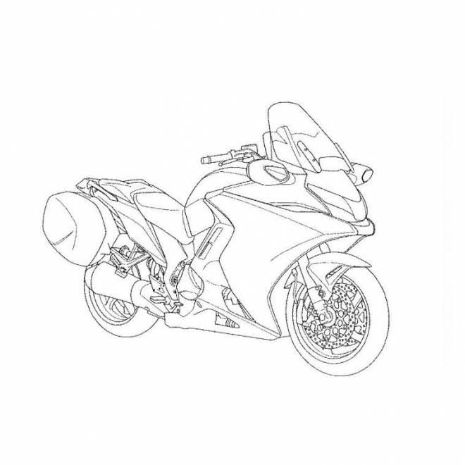 Free coloring and drawings Powerful motorcycle Coloring page