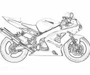 Coloring pages Realistic racing motorcycle