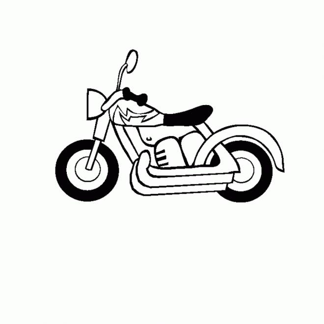 Free coloring and drawings Simple motorcycle for children Coloring page