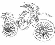 Free coloring and drawings Stylized motocross Coloring page