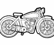 Coloring pages Vector racing motorcycle