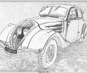 Coloring pages Classic automobile