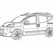 Free coloring and drawings French Peugeot automobile Coloring page
