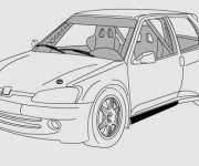 Coloring pages Peugeot 205 GTI