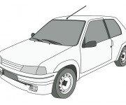 Free coloring and drawings Peugeot 205 junior Coloring page