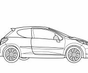 Coloring pages Peugeot 206 model