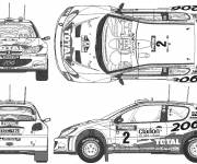 Coloring pages Peugeot 206 Rally