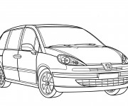 Free coloring and drawings Peugeot 3008 Coloring page
