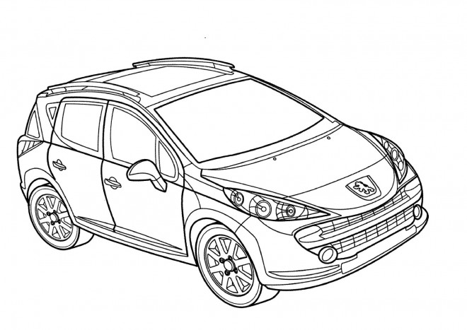 Free coloring and drawings Peugeot 4 x 4 Coloring page