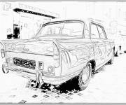 Coloring pages Peugeot 404 classic