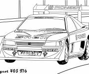 Coloring pages Peugeot 405 racing car