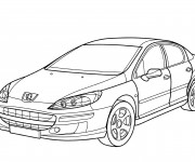 Free coloring and drawings Peugeot 407 Coloring page