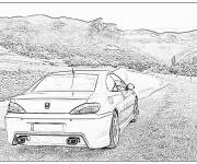 Coloring pages Peugeot 407 in the countryside