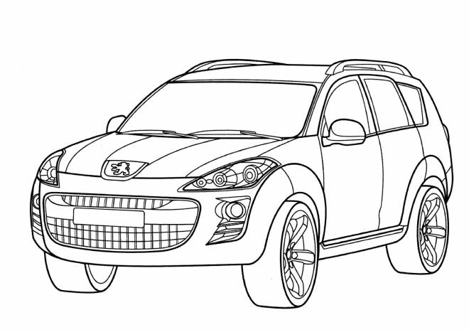 Free coloring and drawings Peugeot color Coloring page