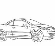 Coloring pages Peugeot coupe car