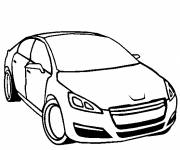 Coloring pages Peugeot in black and white