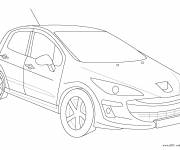 Coloring pages Peugeot model 206