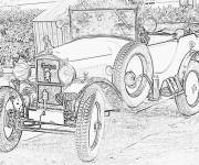 Coloring pages Peugeot old model