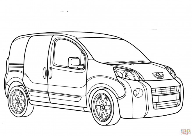Free coloring and drawings Peugeot Partner Coloring page