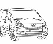 Free coloring and drawings Peugeot Partner online Coloring page