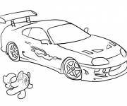 Coloring pages Peugeot racing