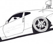 Free coloring and drawings Peugeot sport Coloring page