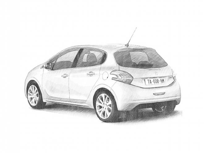 Free coloring and drawings Realistic Peugeot automobile Coloring page