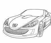 Coloring pages Simple luxury Peugeot