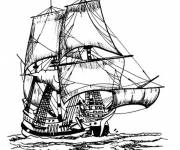 Coloring pages Caribbean Pirate Ship