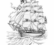 Coloring pages English antique boat