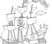 Coloring pages Humorous pirate ship