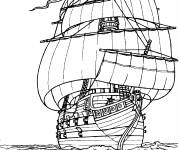 Coloring pages Large Pirate Ship