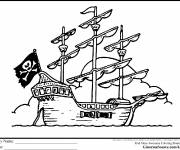 Coloring pages Maternal Pirate Ship