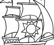 Coloring pages Old sailing boat