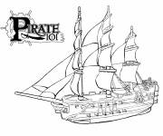 Coloring pages Pirate Ship of Antiquity