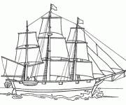 Coloring pages Sailing boat