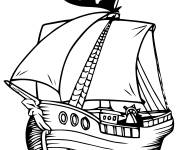 Coloring pages Vector Pirate Ship coloring
