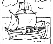 Coloring pages Wooden pirate ship