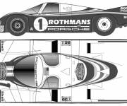 Coloring pages Almighty racing porsche