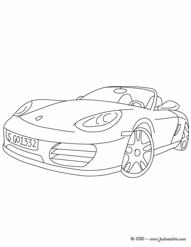 Free coloring and drawings Convertible porsche Coloring page