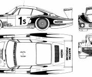 Coloring pages Fast racing porsche