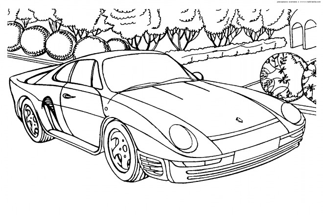 Free coloring and drawings Ferrari Coloring page