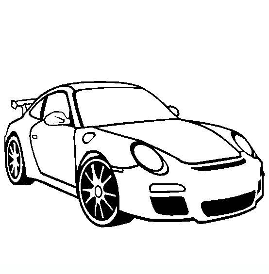 Free coloring and drawings Maternal porsche Coloring page